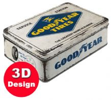 Goodyear Tires Service - Embossed Storage Tin